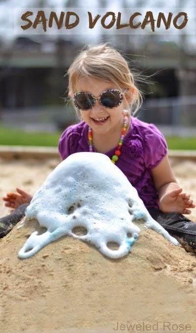 sand volcano for kids