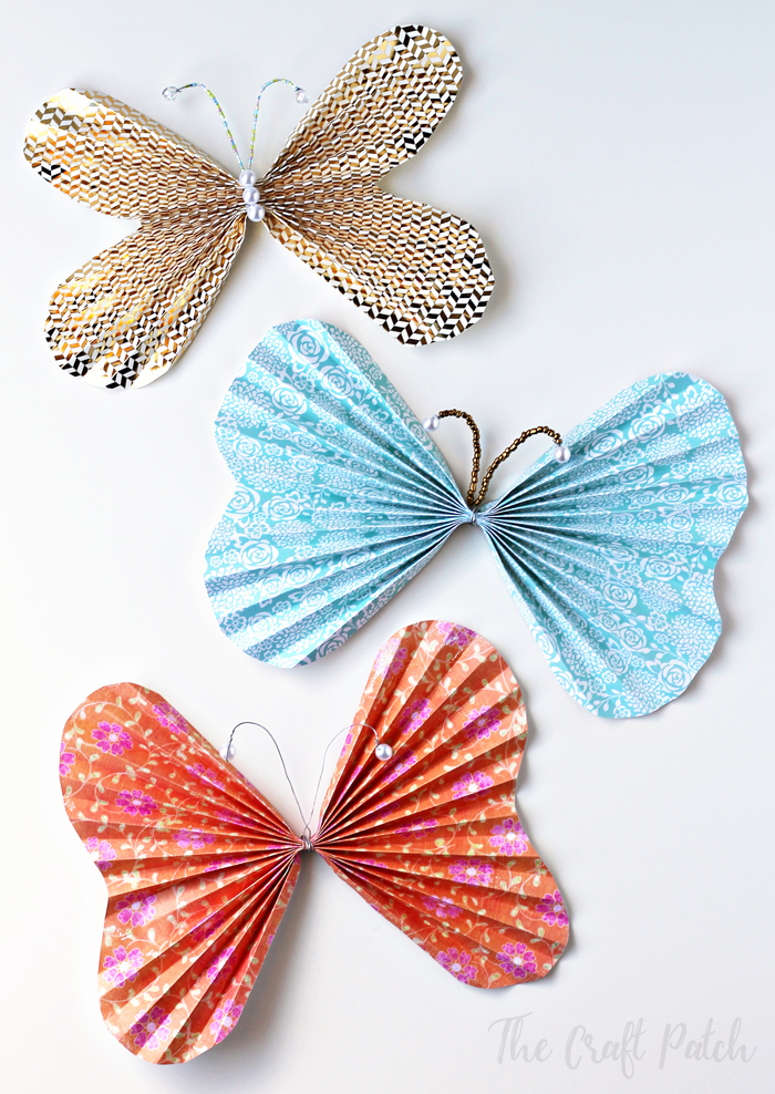 paper butterfly craft for kids