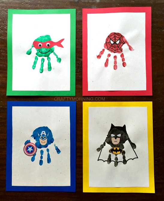 superhero handprint gift