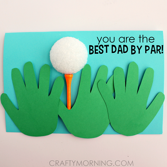 fathers day golf handprint card