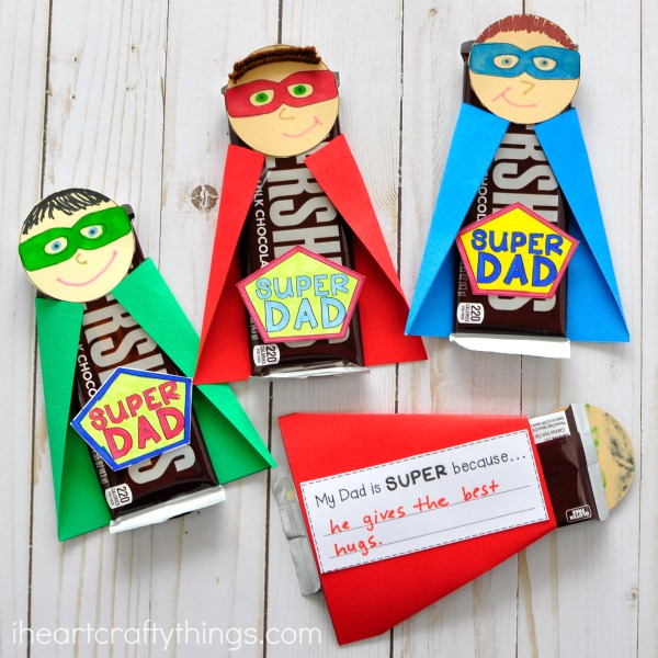 super dad candy bar wrapper
