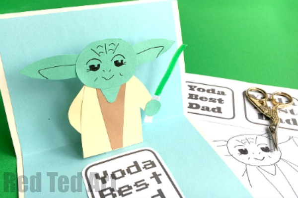 star wars fathers day card DIY