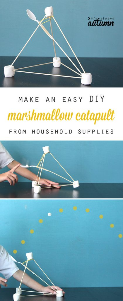 marshmallow catapult for kids