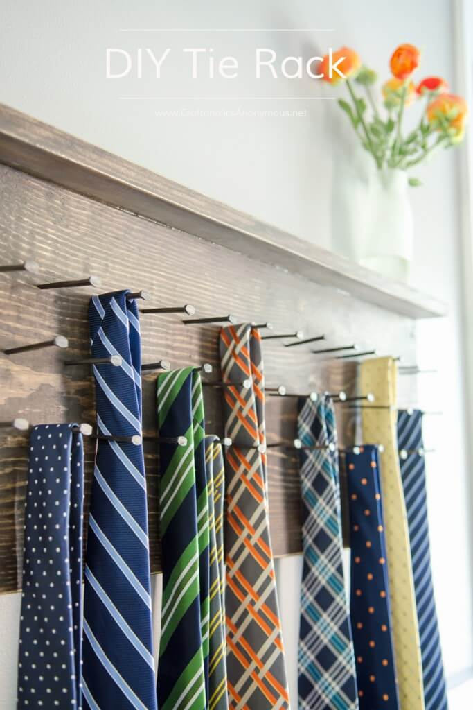 DIY Tie rack fathers day gift