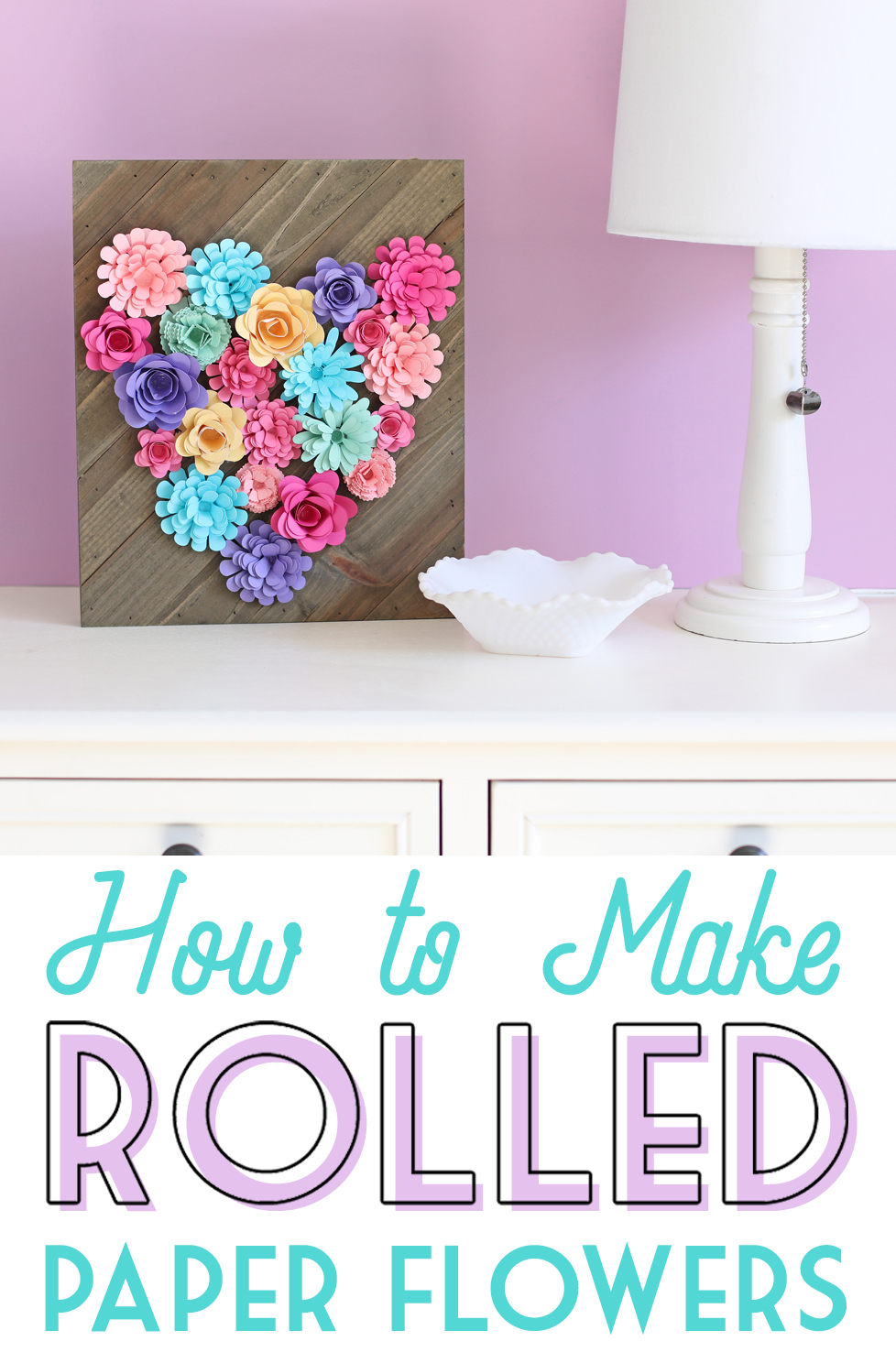 Rolled Paper Flower Sign Thecraftpatchblog