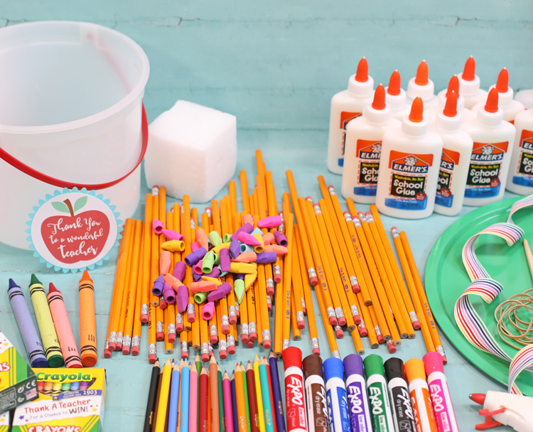 teacher appreciation school supply cake