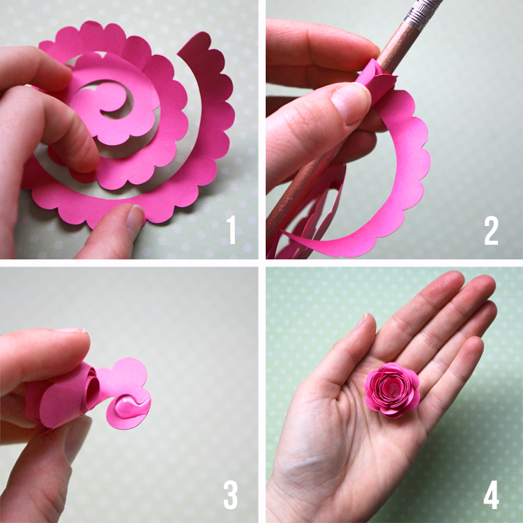 how to make a rolled paper flower