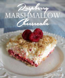 raspberry marshmallow no bake cheesecake recipe
