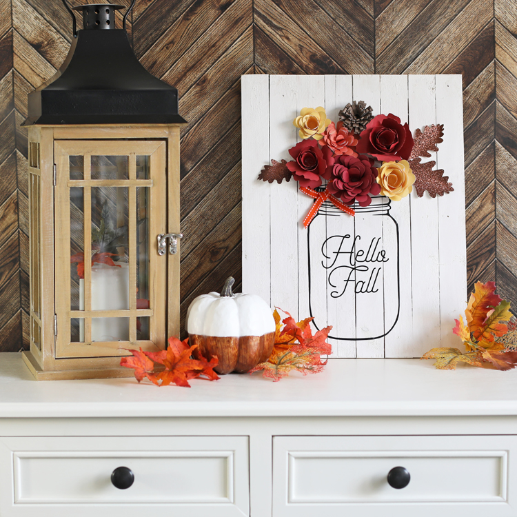 Diy Fall Decor Mason Jar Sign