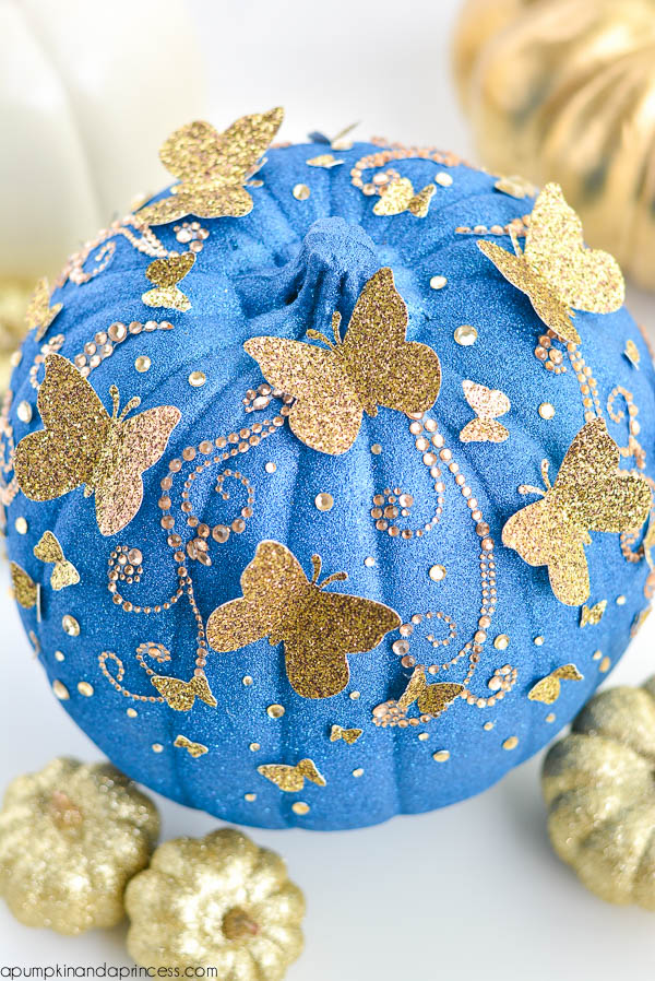 glitter painted pumpkin