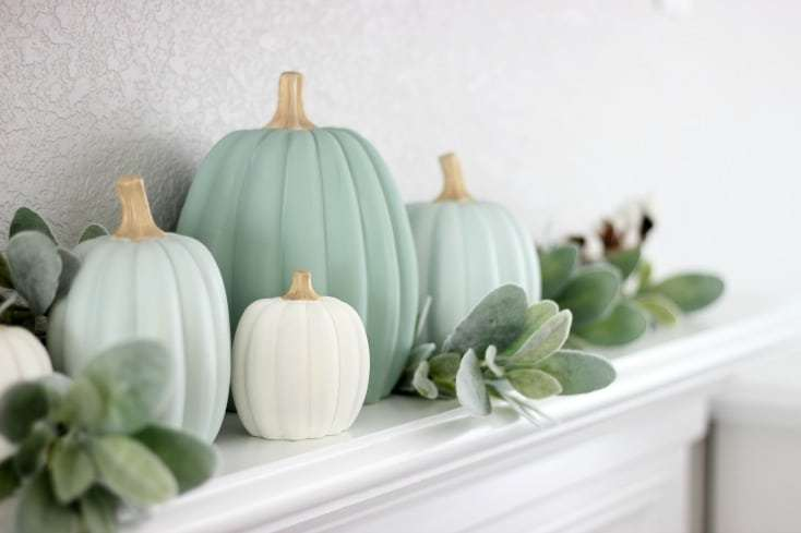 soft heritage painted pumpkins
