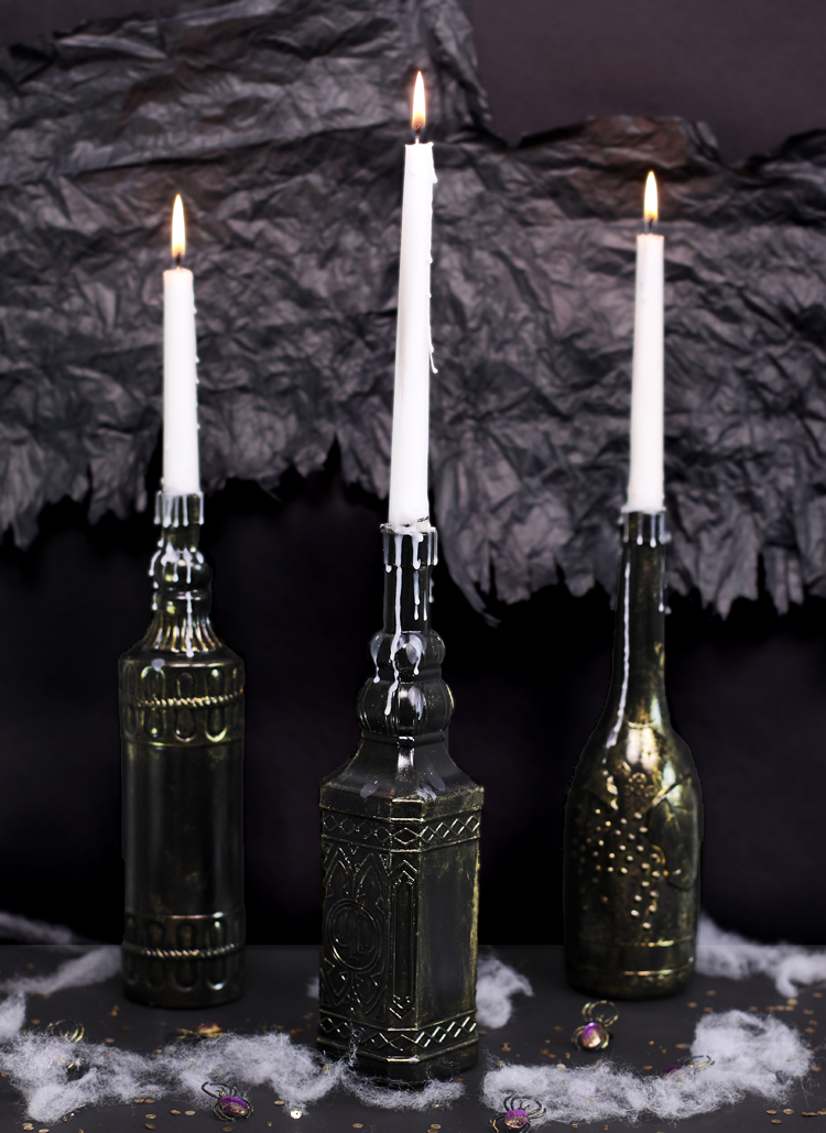 Dollar Store Halloween Candle Holders The Craft Patch