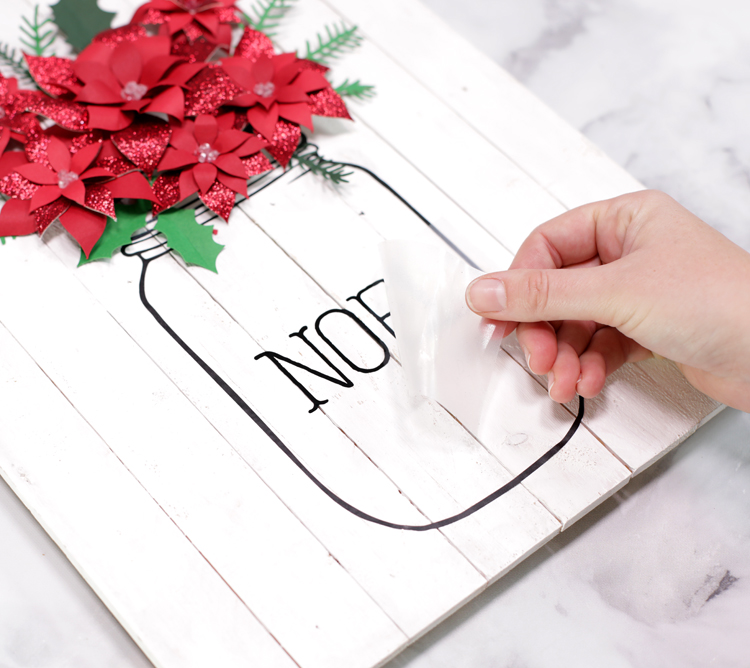 mason jar christmas sign tutorial