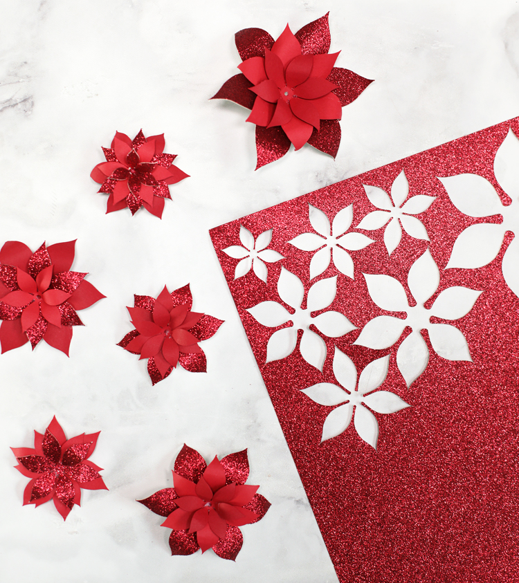 how to make paper poinsettias