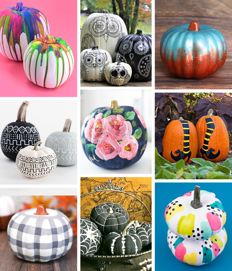 30 Painted Pumpkins And Other No Carve Pumpkin Decorating Ideas