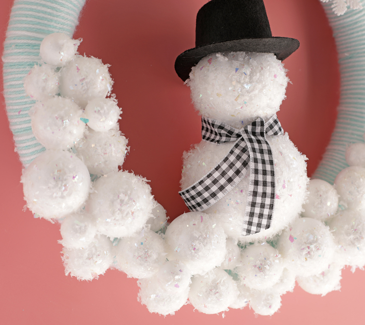 diy winter wreath idea