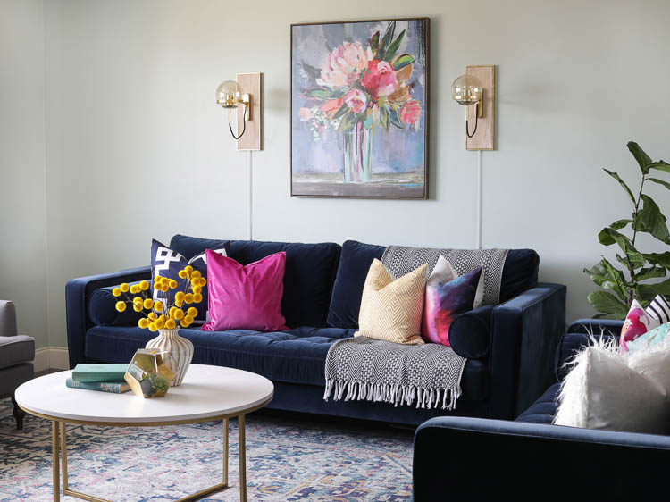 From Farmhouse To Modern Glam My Living Room Makeover With Article Sofa The Craft Patch