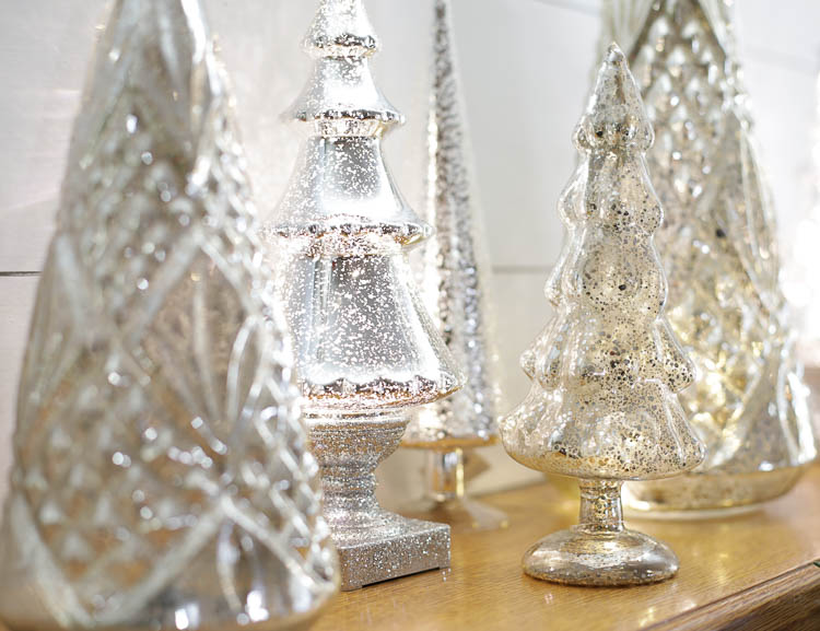 light up mercury glass christmas trees