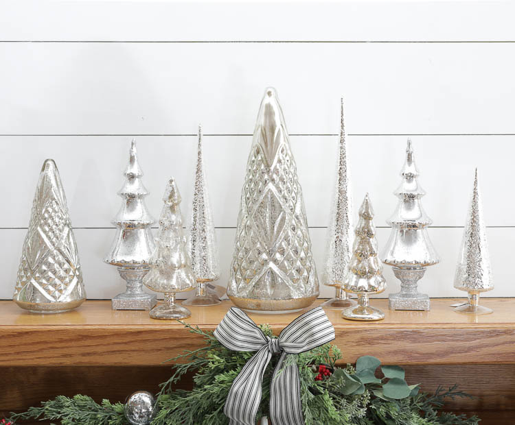 mercury glass christmas decorations