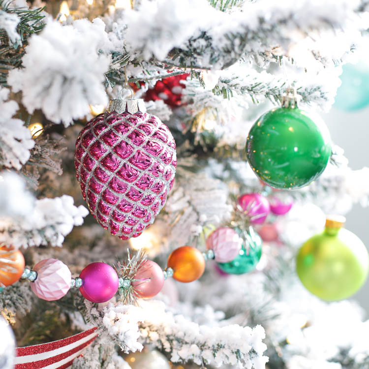 colorful retro Christmas decor