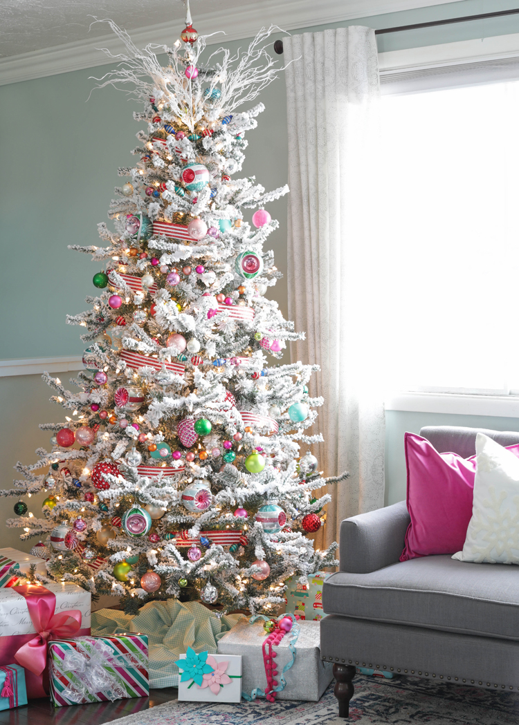 2018 Colorful Vintage Christmas Tree The Craft Patch