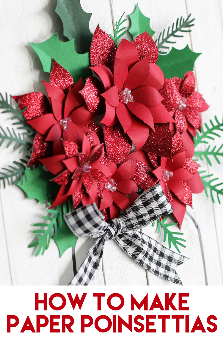 diy paper christmas poinsettias