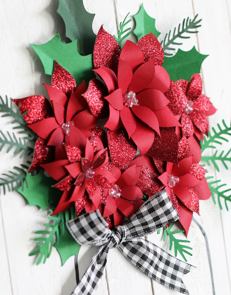 DIY Christmas paper flowers
