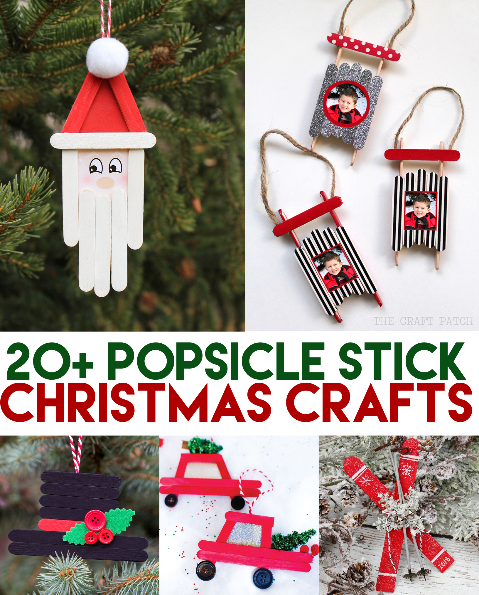 Popsicle Stick Christmas Tree Ornaments.Popsicle Stick Christmas Crafts Thecraftpatchblog Com