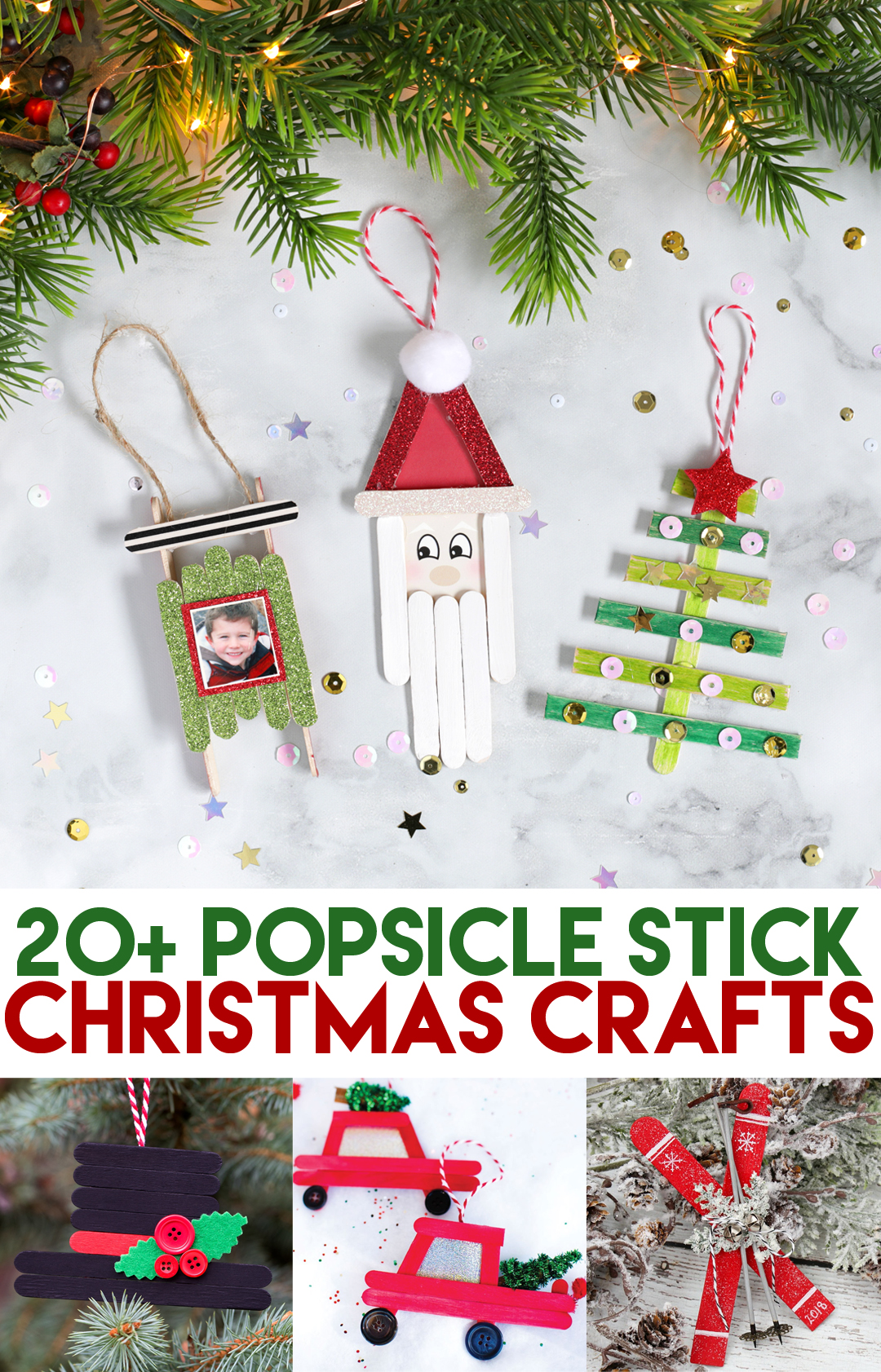 Popsicle Stick Christmas Crafts Thecraftpatchblog Com