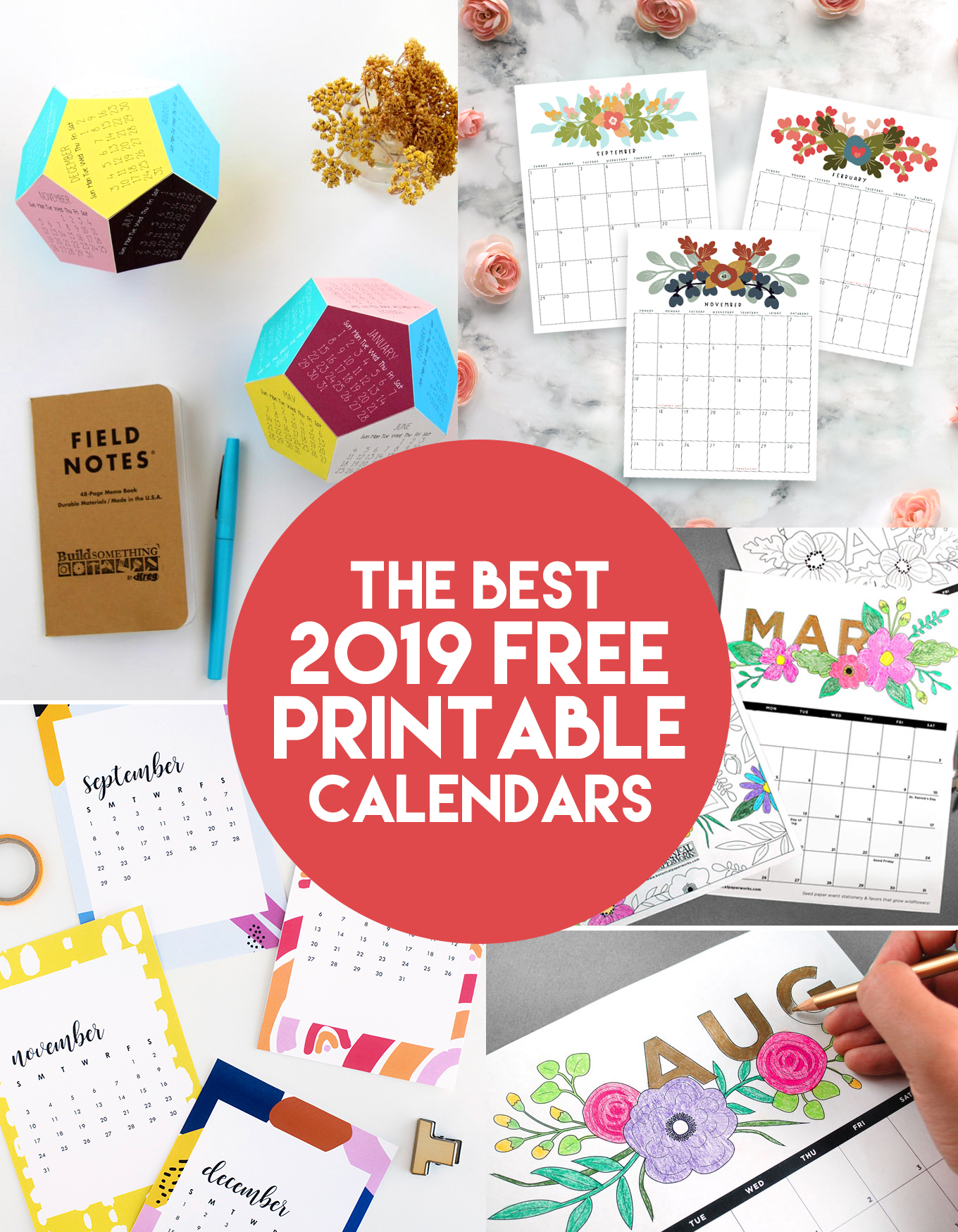picture about Www.printablecalendars.com � Www.freeprintable.net named The Simplest 2019 Free of charge Printable Calendars -