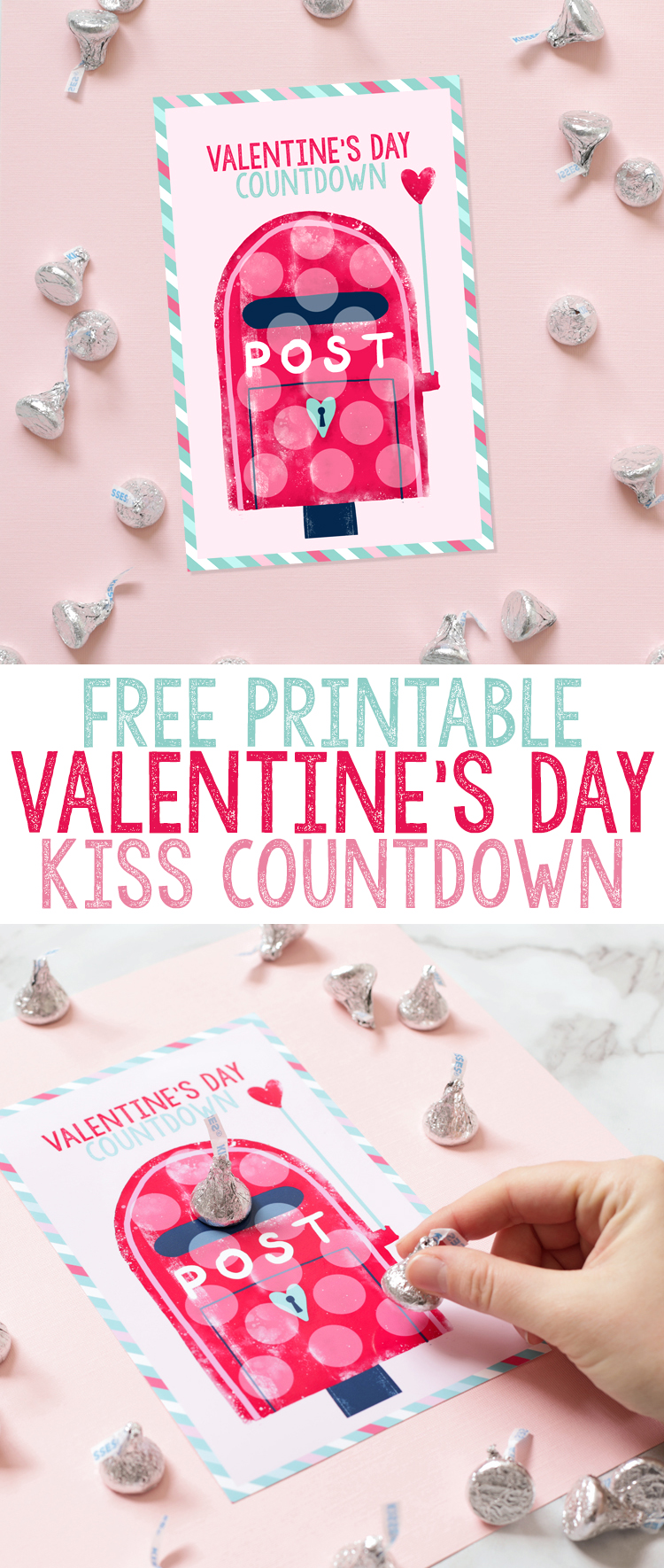 image about Printable Valentines Craft identified as Free of charge Printable Valentines Working day Countdown -