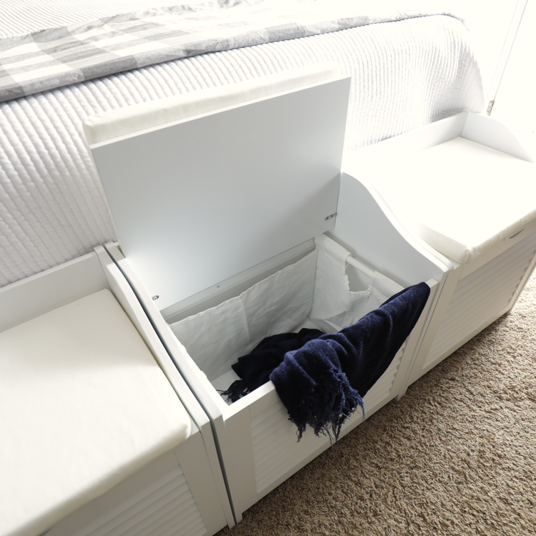 laundry hamper bench