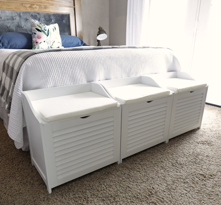 laundry sorter footboard bench