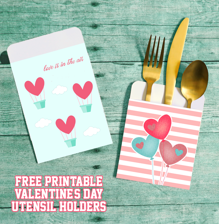 free printable valentines day utensil holders