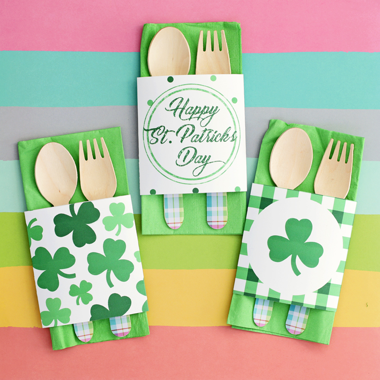 graphic regarding St Patrick's Day Cards Free Printable identified as Totally free Printable St. Patricks Working day Napkin Wraps