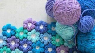 Crochet Puff Stitch Flower Pattern
