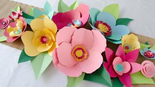 DIY: Hand Cut Paper Flowers