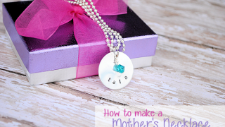 Hand Stamped Mother's Necklace