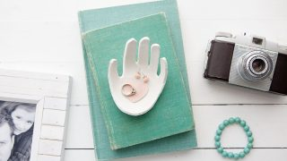 Child's Handprint Jewelry Dish Made Out of Clay