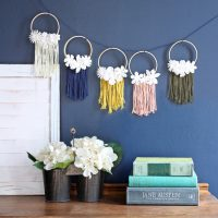 Mini Embroidery Hoop Wreath Garland