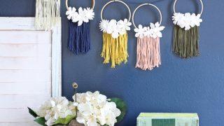 Mini Embroidery Hoop Wreath Garland