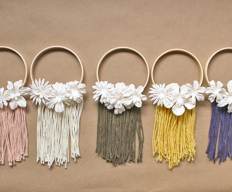 embroidery hoop macrame wreaths