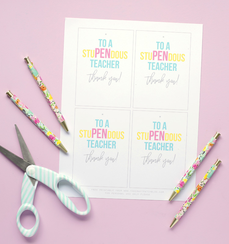 photograph relating to Free Printable Teacher Appreciation Tags identify StuPENdous Instructor Appreciation Reward Strategy with Absolutely free