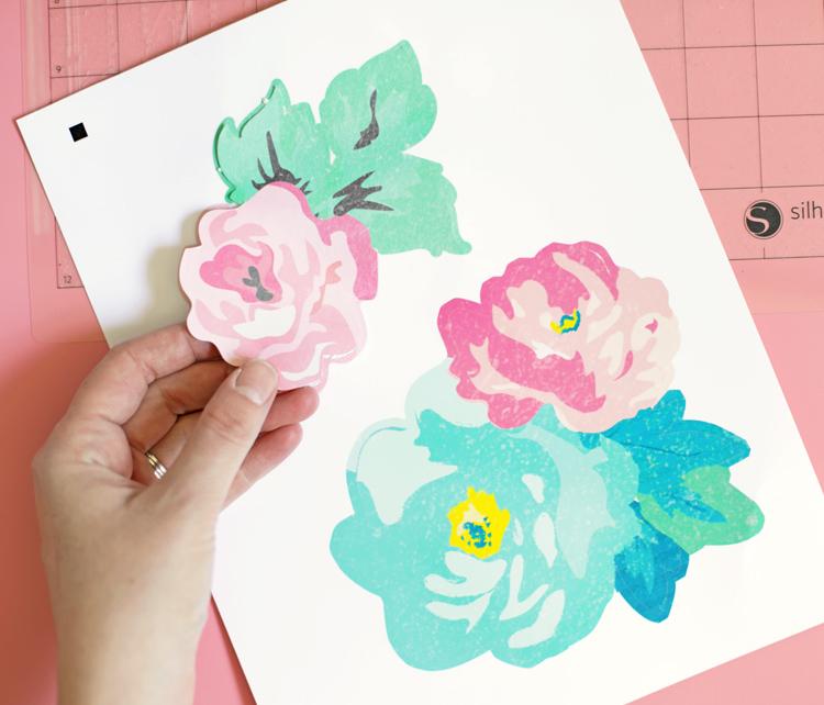 silhouette printable vinyl floral decals