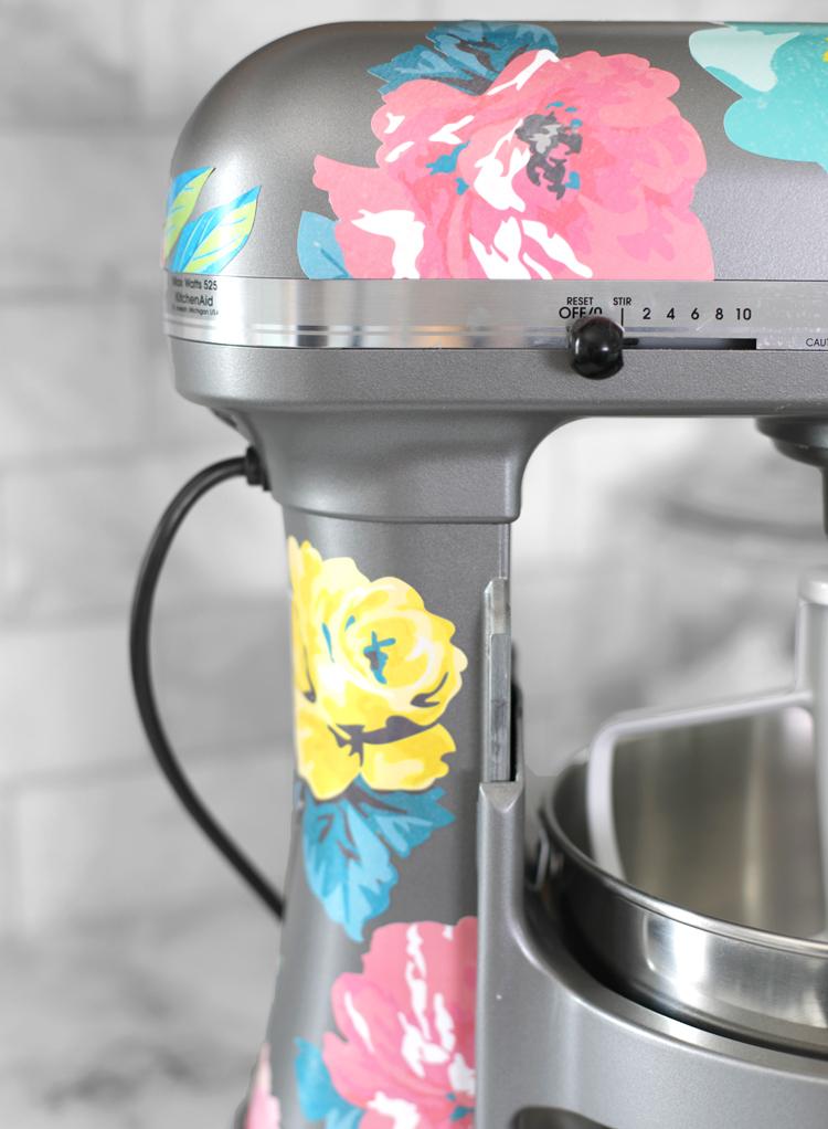 floral kitchenaid stickers