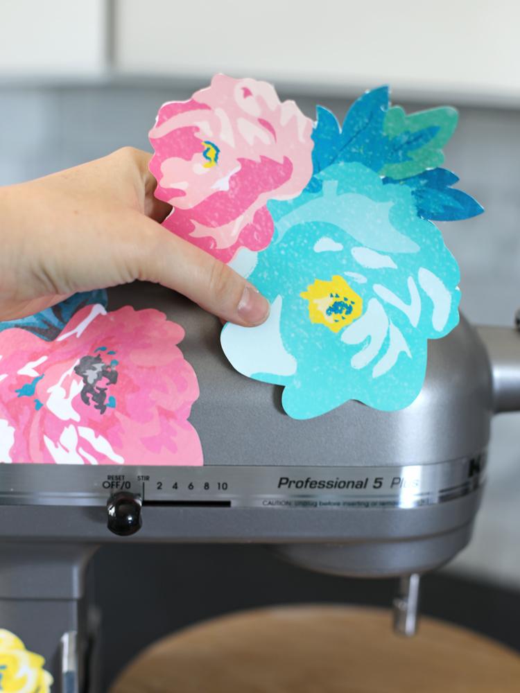 Amazing Diy Floral Vinyl Mixer Decals Thecraftpatchblog Com Interior Design Ideas Gresisoteloinfo