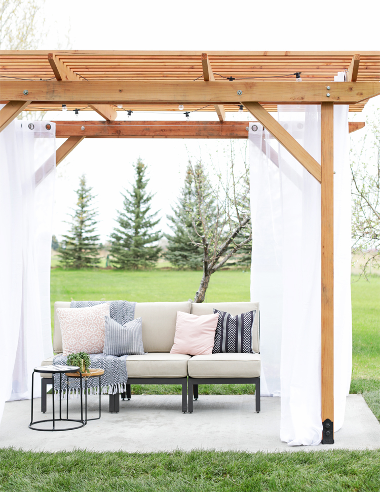 diy redwood pergola