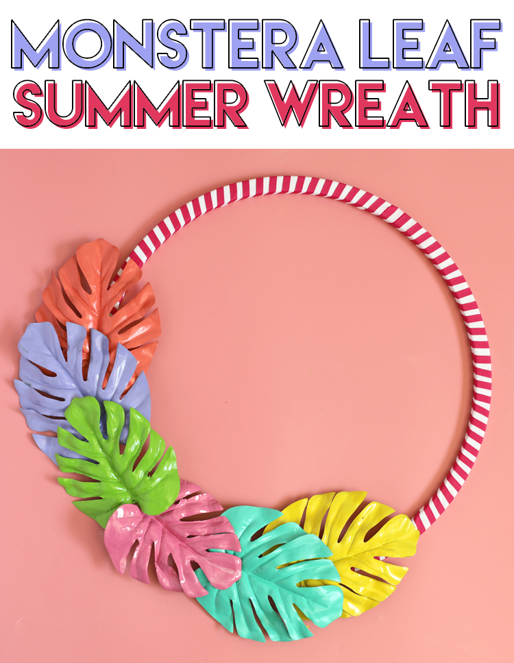 monstera leaf DIY wreath