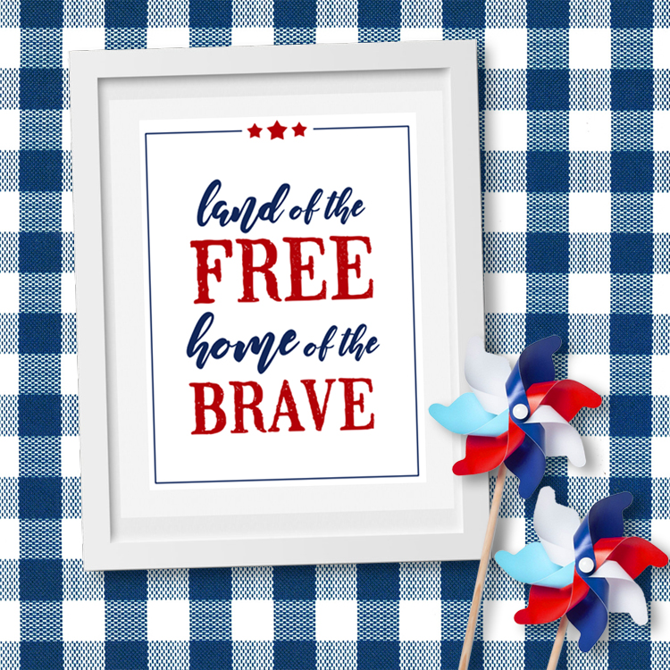 picture relating to Free Printable Art named Land of the Totally free Fourth of July Printable Artwork