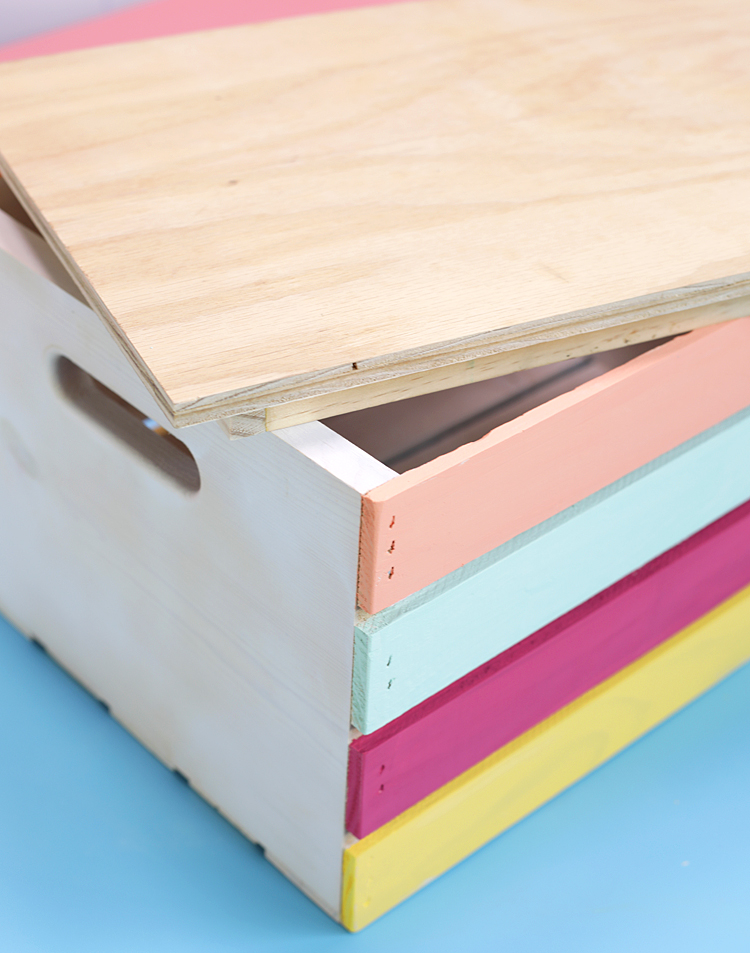 how to make a lid for a wooden crate